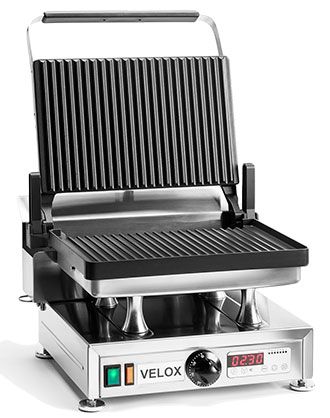 CG-1G - Single Velox Grill with Grooved cooking surfaces