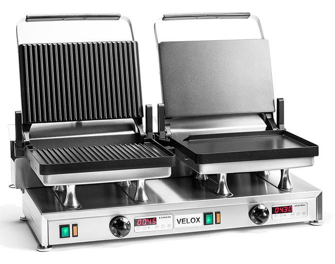 CG-2C - Combination Velox Grill with Grooved and Smooth cooking surfaces