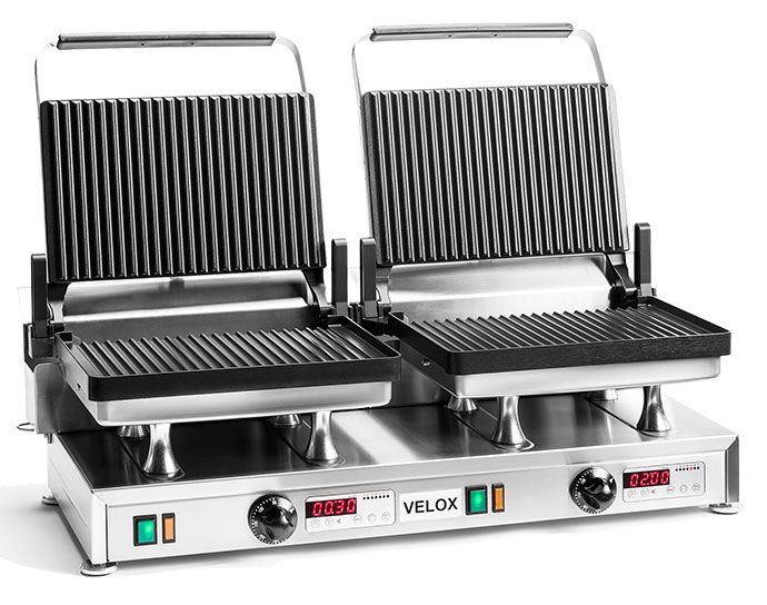 CG-2G - Double Velox Grill with Grooved cooking surfaces