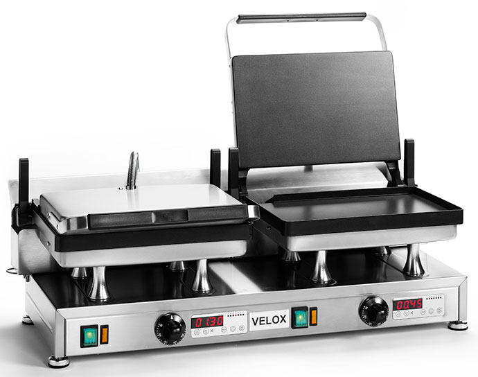 CG-2 - Double Velox Grill with Smooth cooking surfaces
