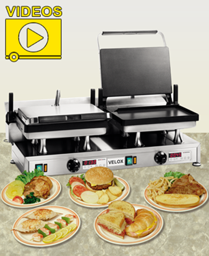 Velox High Speed Contact Grills and Panini Grills